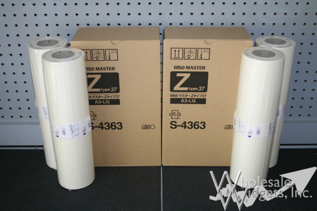 10 Master Rolls Compatible With Riso S-4363 For Risograph Z Type 37 A3-LG MZ RZ