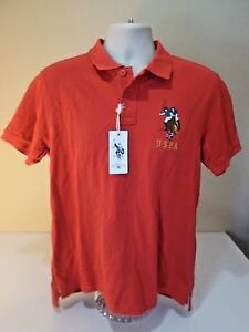 Us Polo Assn New Tags Men Red Large Polo Shirt With Uspa Horse