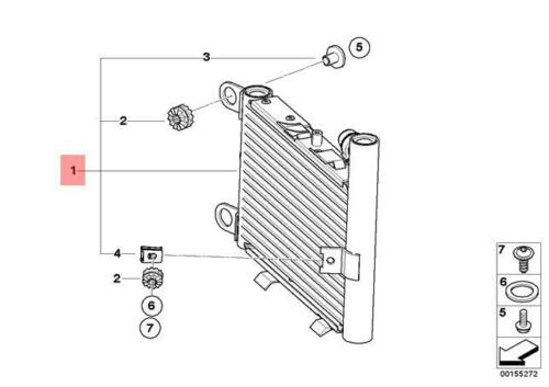 Genuine BMW E83N X3 SUV Additional Cooling Radiator OEM 17113449182