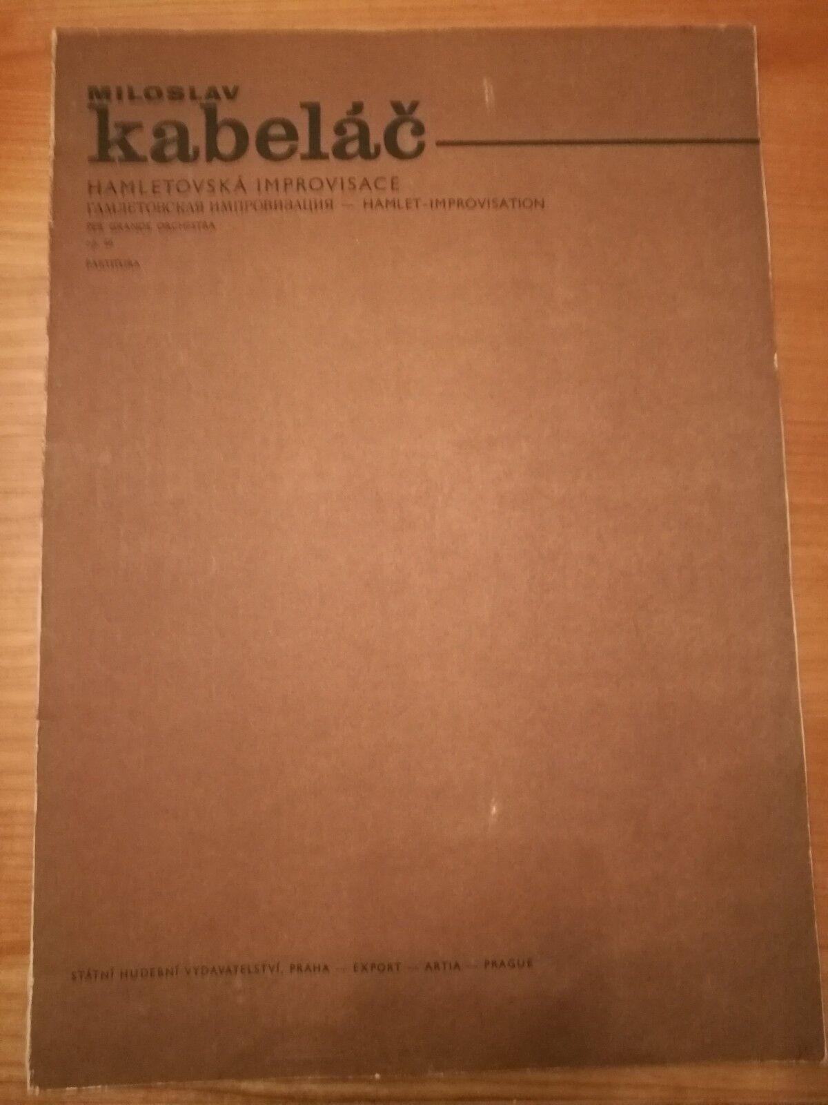 Notas. kabalac. kabalac. kabalac. hamletovska improvisace partituras 46. partitura.  servicio de primera clase