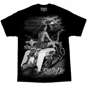 David-Gonzales-Dga-Ride-Or-Die-Dead-End-Tattoo-Pin-Up-Girl-Biker-Shirt-M-5Xl
