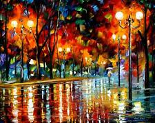 WHY DID SHE LEAVE  — Palette Knife Oil Painting On Canvas By Leonid Afremov
