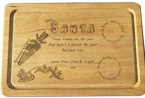 Children-039-s-Christmas-Eve-Personalised-Santa-039-s-Snack-and-drink-Wooden-Snack-Board