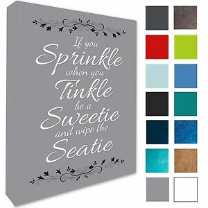 Awesome Details About Bathroom Plaque Wall Art Picture If You Sprinkle Canvas Prints 17 Colours 258 Download Free Architecture Designs Scobabritishbridgeorg