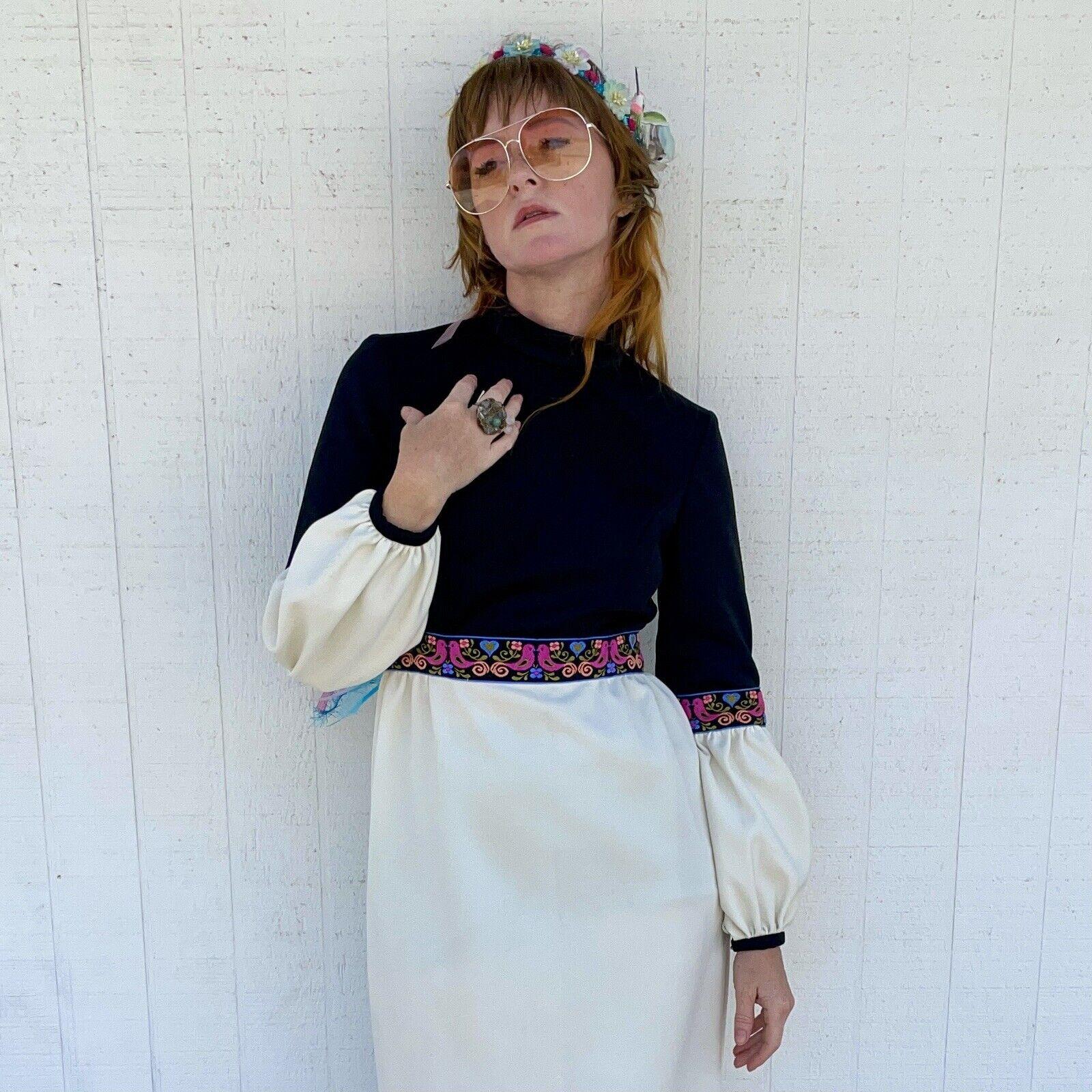 Vintage Fairycore Maxi Dress Hippie Clothes Puffy… - image 3