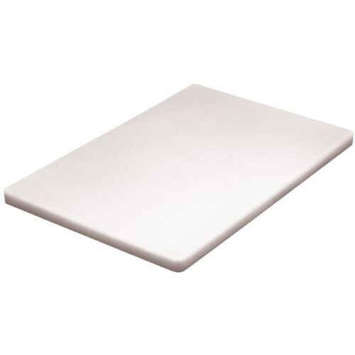 "Hygiplas Thick Low Density White Chopping Board 450x300mmx3//4/""Thick Bakery Dairy"