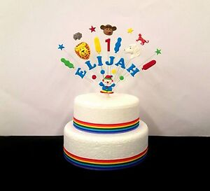 Personalized Edible Cake Image CLOWNS CARNIVAL CIRCUS