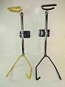 CréAtif (2) Used - Ingles Sho-all Chrome Adjustable Slatwall Acoustic Guitar Displays Peut êTre à Plusieurs Reprises Replié.