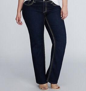 4f1b090a000 Seven 7 Melissa McCarthy Dark Wash Bootcut Jeans PLUS Size 28 4X ...