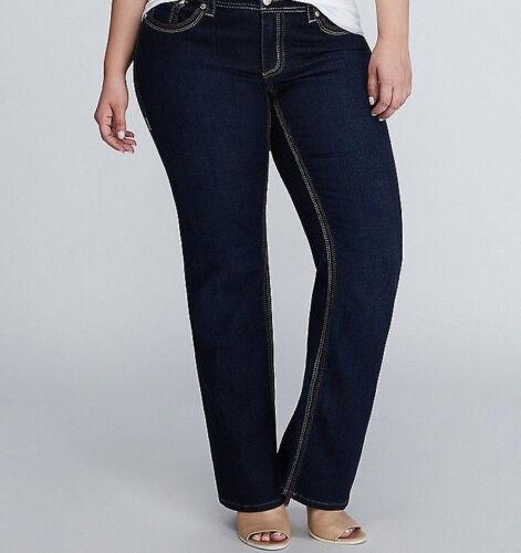 Seven 7 Melissa McCarthy Dark Wash Bootcut Jeans PLUS Size 28 4X Lane Bryant NWT