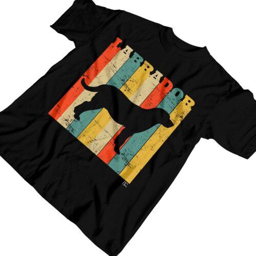 1Tee Enfants Filles Labrador Chien Race-Coloré Rétro T-Shirt