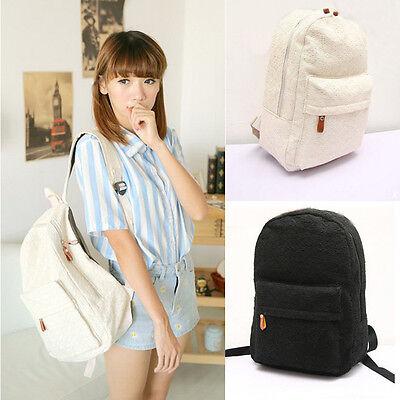 Fashion Cute Girls Lace Canvas Backpack Bag Schoolbag Handbag Bookbag Excellent