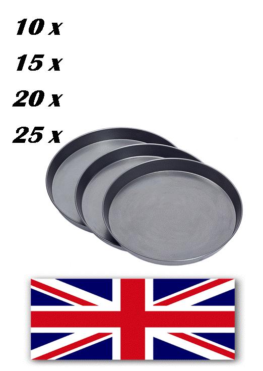 Faisceaux, 1.5 in (environ 3.81 cm) de profondeur, Pizza Pan, fer noir, Bargain, vente, restaurant, pub, libre