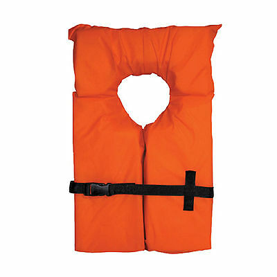 Canoe Boat Kayak Basic KeyHole LIFE VEST Orange Adult Size USCG Approved NEW