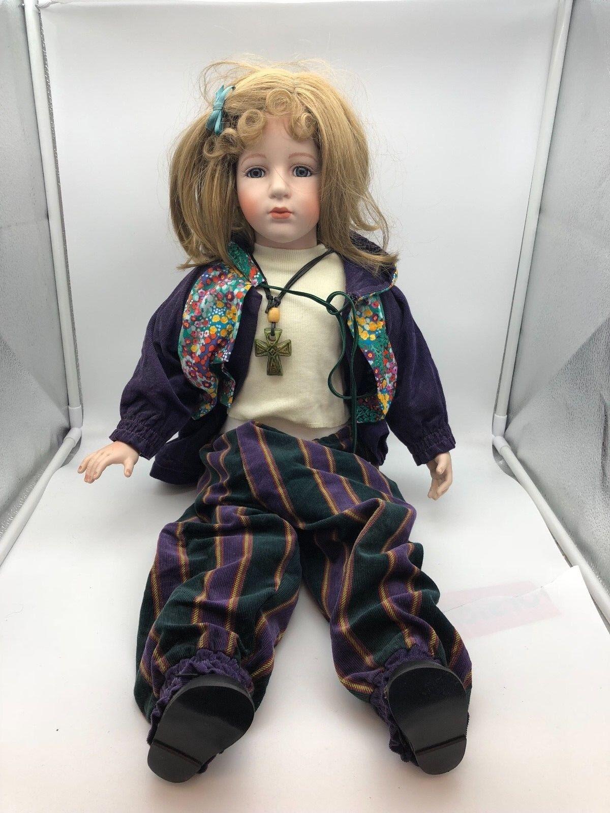 Artistas muñeca muñeca de porcelana 66 cm. top estado