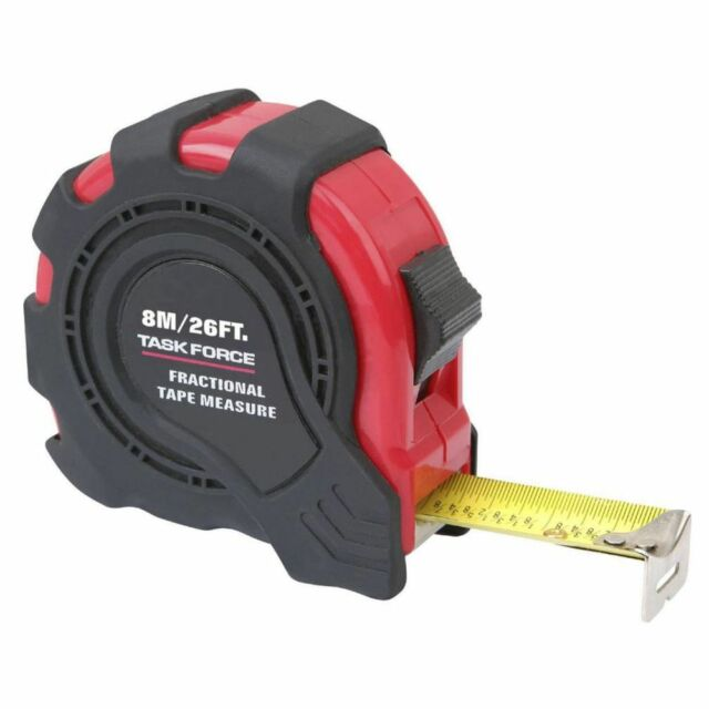NEW Task Force Fractional Tape Measure 8m