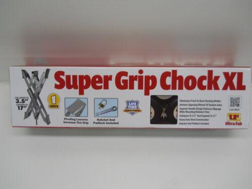 "Single RV Camper 5th Wheel Trailer Super Grip XL Tire Wheel Chock Expands 17/"""
