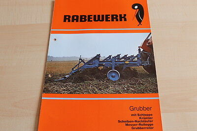 Car & Truck Manuals 144477 Rabewerk Grubber Prospekt 02/1980