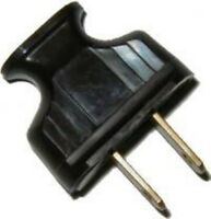 Brown Heavy Bakelite Cord Plug With Brass Spring Prongs Lamp - Vintage Antique O