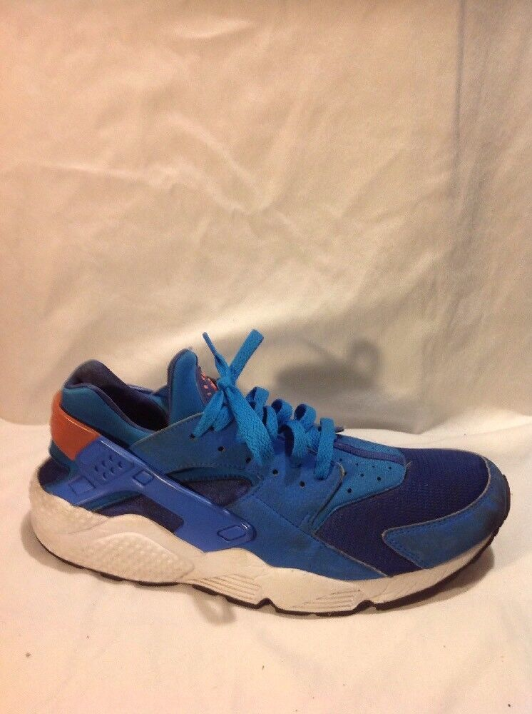 Men's Air Huarache By Nike Blue Trainers Size 9.5