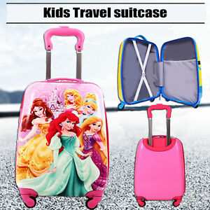 Kids Suitcase trolley Travel bag Carry on Wheels Rolling Case Kids luggage
