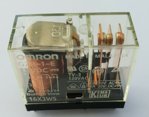 Omron G2R-1-E 12V DC Relay SPDT 16A//250VAC 16A//30VDC PCB Mounting UK Stock