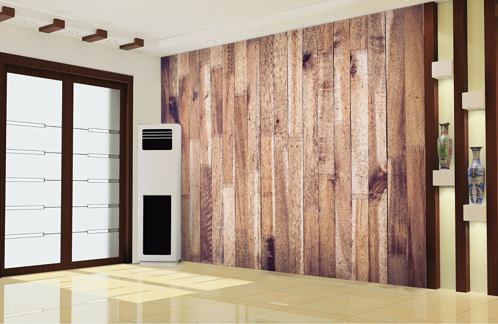 3D Retro Wood Board 8 Wall Paper Murals Wall Print Wall Wallpaper Mural AU Lemon