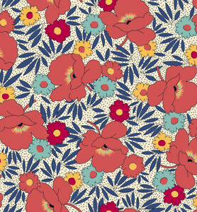 """100/% Cotton Fabric 45/"""" W Quilting Fabric By The Yard Leafy Vines Timeless T"""