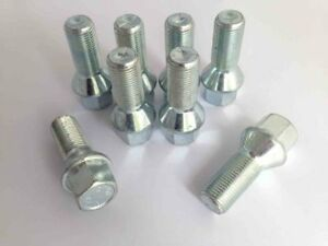 8 x Extended Alloy Wheel Bolts M14 x 1.5 33mm Long 17mm Hex