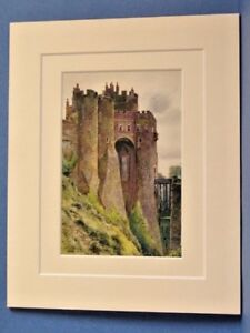 THE-CONSTABLE-039-S-TOWER-DOVER-CASTLE-c1920-VINTAGE-MOUNTED-PRINT-HASLEHUST-10X8
