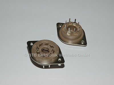 Oktal Print Fassung 2x Belton octal tube socket EL34-KT88 Leiterplatten Montage