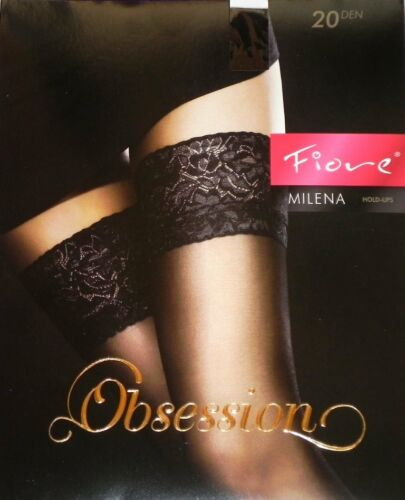 Elegante supporto senza calze Milena 20den Nero