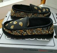 Bandana House Shoes Slippers Trooper America Black /yellow Tiger Men's Us Sz 13