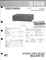 Sony Original Service Manual für TA-F 411R