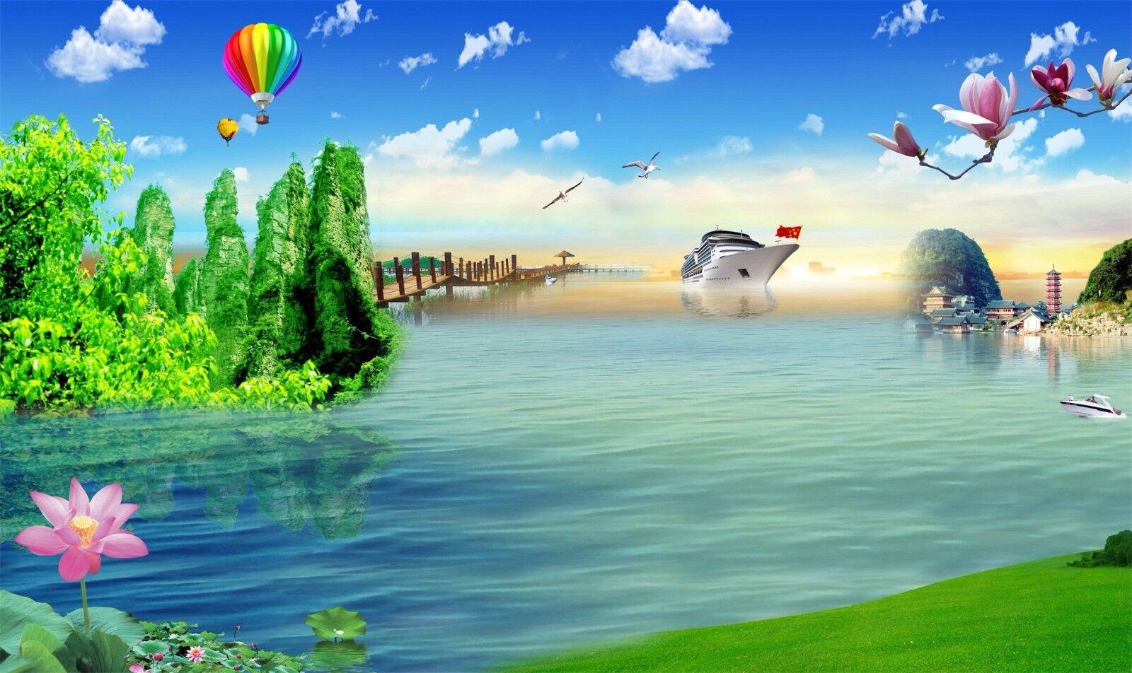 3D Himmel Himmel Himmel See Wälder 8936 Tapete Wandgemälde Tapeten Bild Familie DE Jenny  | Haltbar  | Günstige Bestellung  | Modern  acaa7d