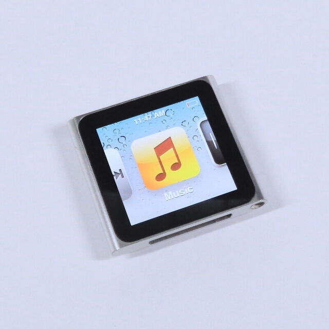 Apple iPod Nano 8GB 6th Gen Generation Silver MP3 WARRANTY Fair