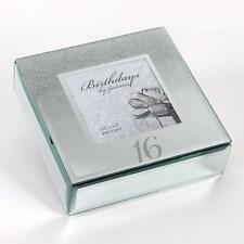 16th Birthday Gift Mirror and Glitter Design Trinket Box Boxed 14946