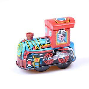 Retro-Steam-Train-Reminiscence-Children-Vintage-Wind-Up-Tin-Toys-F-gt