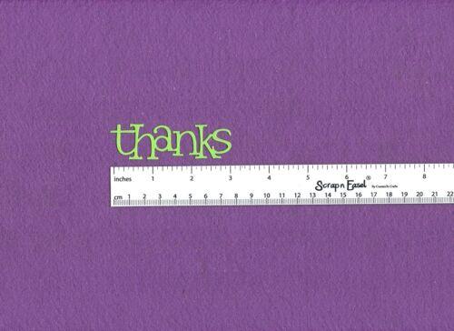 """/""""THANKS/"""" die cuts"""