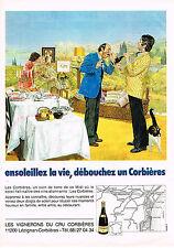 PUBLICITE ADVERTISING 044  1981  LES VIGNERONS DU CRU   vins de CORBIERES