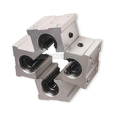 Pack of 4 SBR20UU 20mm Aluminum Open Linear Router Motion Bearing Shaft Block