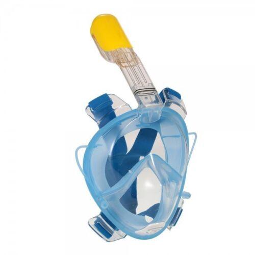 Schnorchelmaske BLAU mit Anti-Fog 180° Blickfeld für Kinder Vollmaske