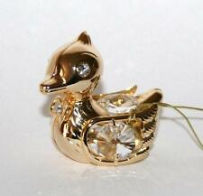 Gold Plated With Swarovski Crystals Duck Boxed Gifts By Crystal Temptations