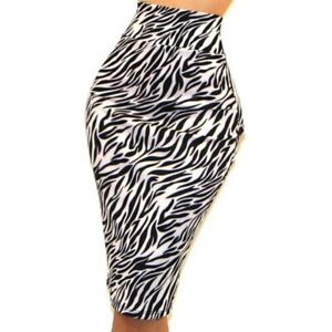 b9a769895c Women Got Style Black White Animal Print Bodycon Sexy Pencil Skirt ...