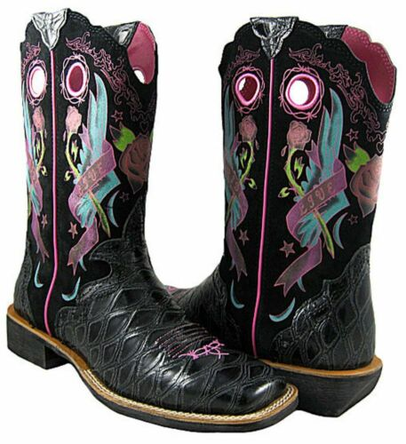 ARIAT RODEOBABY Cowboy Boots Womens ROCKER Square