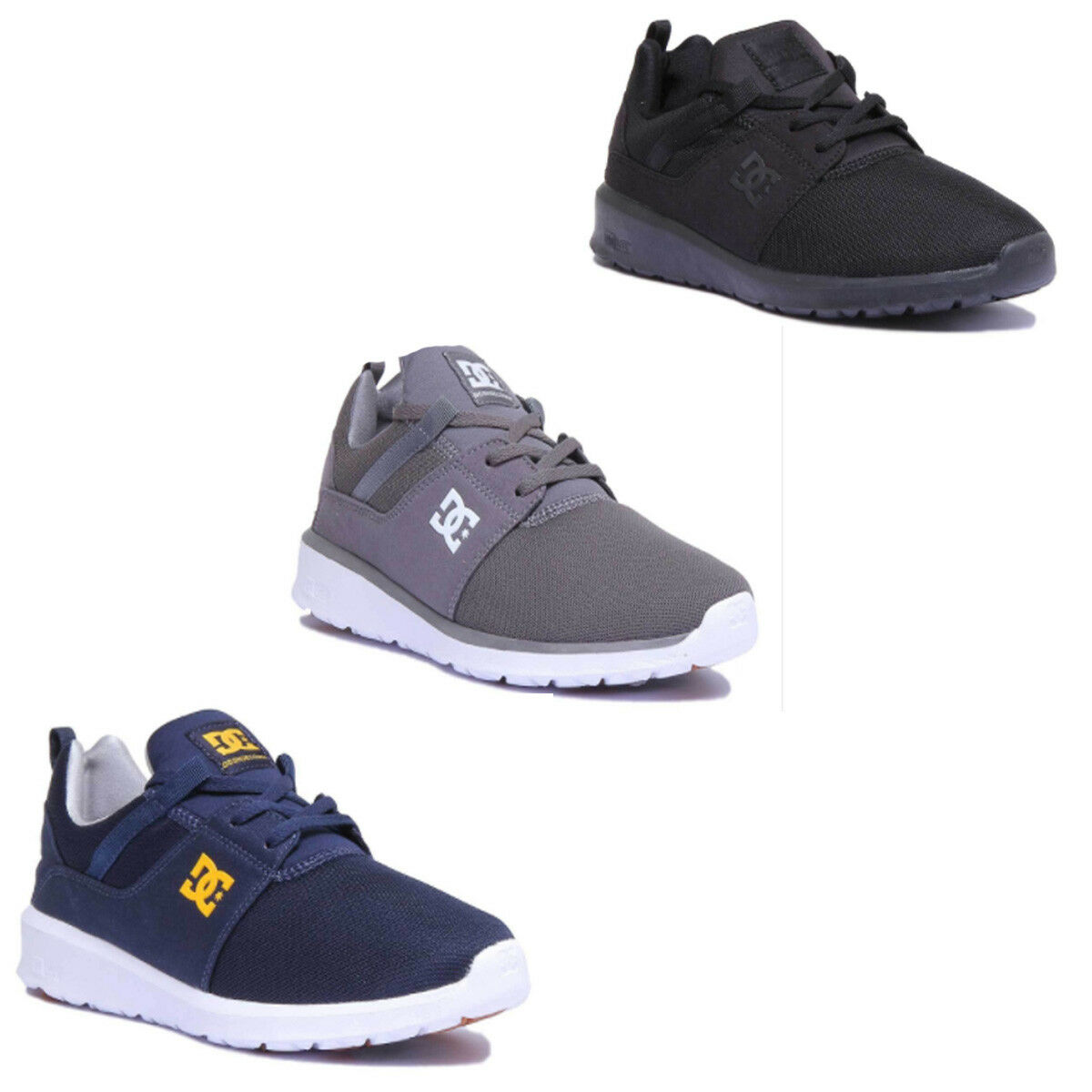 DC Schuhes Trainers Heathrow Men Miscellaneous Grau Trainers Schuhes Größe UK 6 -12 0232c4