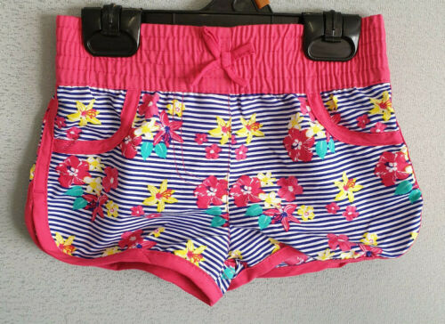 BNWT Girls Sz 1 Kmart H /& T Brand Colourful Rainbow Floral Swim Board Shorts