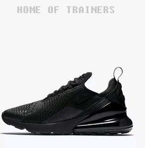 Nike Air 270 Triple Black Men's Trainers All Sizes Limited Stock