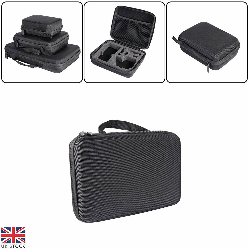 Universal Portable Hard Shell Case Box With Foam Inside For GoPro Hero 3 Sizes