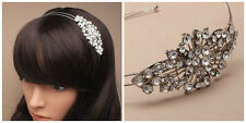 crystal headbands double silver wire aliceband/wedding